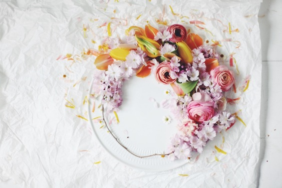 colorful spring wreath via anastasiabenko.com