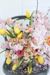 spring bouquet with cherry blossoms via anastasiabenko.com