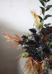 fall bouquet with black berries