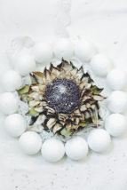 winter wreath with artichoke