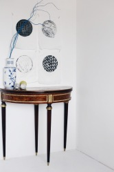 antique table and prints by Anastasia Benko