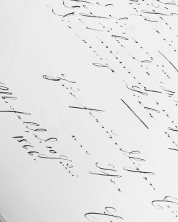 antique letters, calligraphy