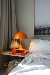 a much needed splash of color: orange Louis Poulsen Panthella