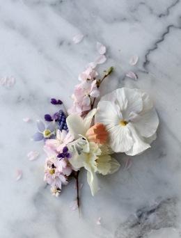spring flowers on marble via anastasiabenko.com