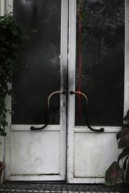doors at botanical garden in Munich, Germany