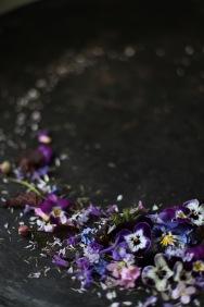 flatlay wreath wth pansies via anastasiabenko.com