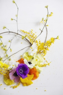 colorful spring wreath