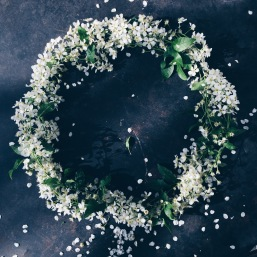moody spring wreath