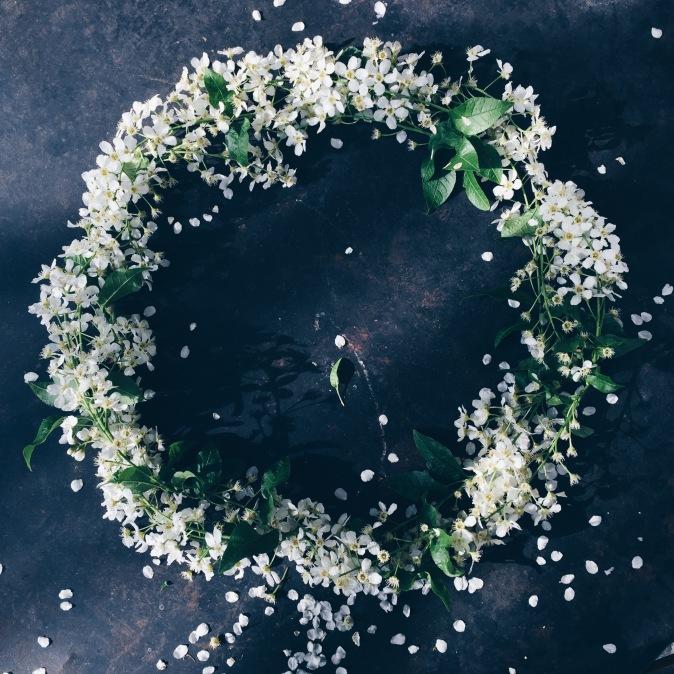 moody spring wreath