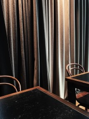 Thonet chairs and marble tables, Berlin