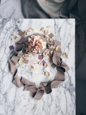 wreath with blush carnation via anastasiabenko.com