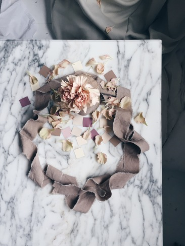 wreath with blush carnation via anastasiabenko.com
