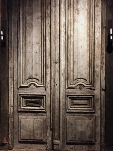 antique austrian door taken from a mountain shelter