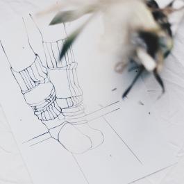 warm socks illustration via anastasiabenko.com