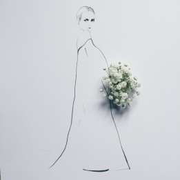 fashion illustration with baby's breath