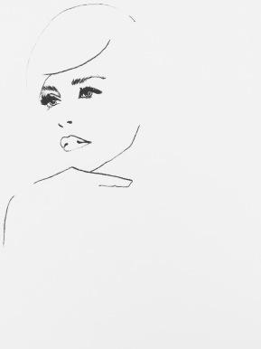 art, chalk on canvas, fashion illustration, illustration, fashion, drawing, Sharon Stone