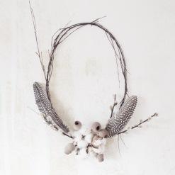 wreath with feathers via anastasiabenko.com