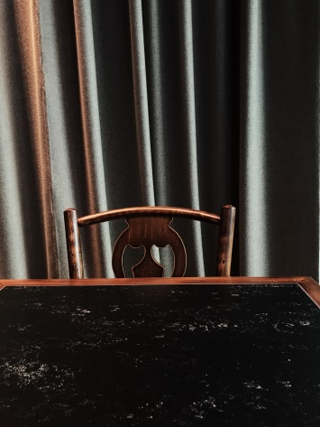 vintage chair and marble table