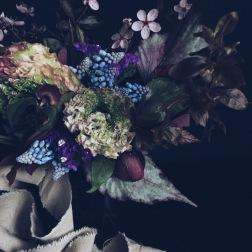 moody flower arrangement via anastasiabenko.com