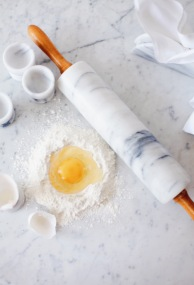 vintage marble rolling pin