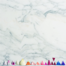 geometrical flowers and marble