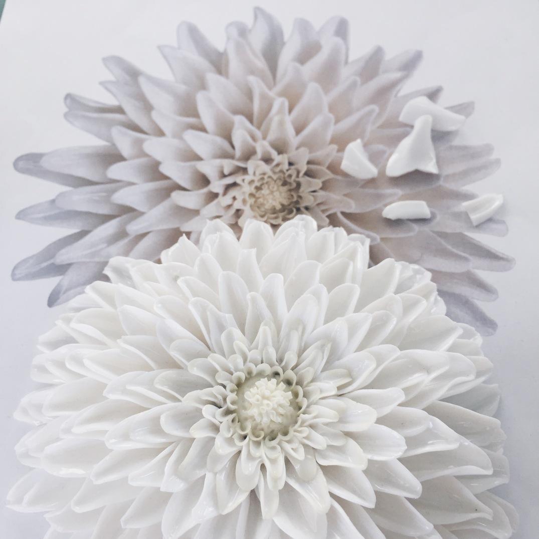 porcelain chrysanthemum flower at the Porzellan Manufaktur Nymphenburg