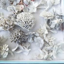 porcelain flowers at the Porzellan Manufaktur Nymphenburg