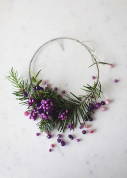 purple berries christmas wreath via Anastasia Benko