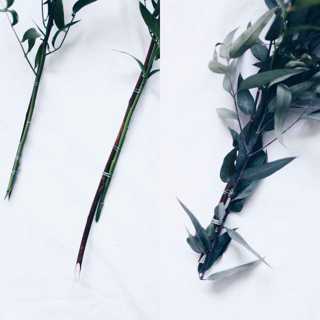 DIY steps for XXL Eucalyptus wreath via anastasiabenko.com