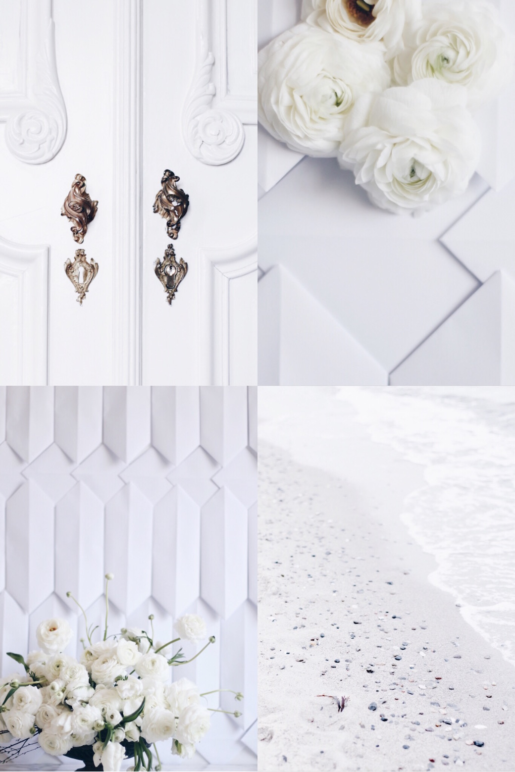 moodboard for white flower arrangement via anastasiabenko.com