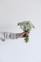 wild carrot, perfect wedding inspiration, diamond bracelets, nude nail polish
