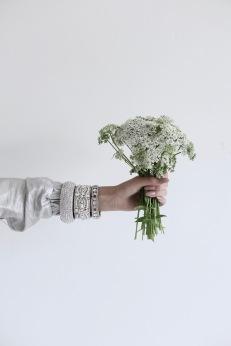 wild carrot, perfect wedding inspiration, diamond bracelets, nude nail polish