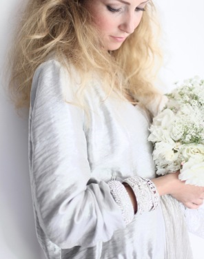 white floral arrangement - wedding bouquet inspiration , white peonies and roses