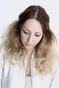 soft dreamy portrait photography, silver jacket, ombre hair , beauty photography