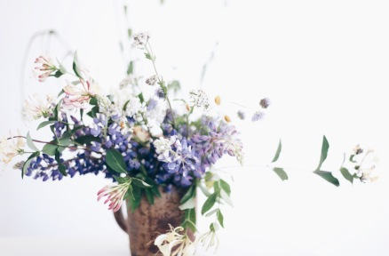 wild flower arrangement with lupine