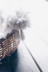 rustic bouquet made with cotton grass