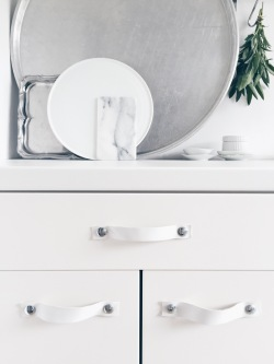 Kitchen Leather Handles DIY / kitchen via Anastasia Benko
