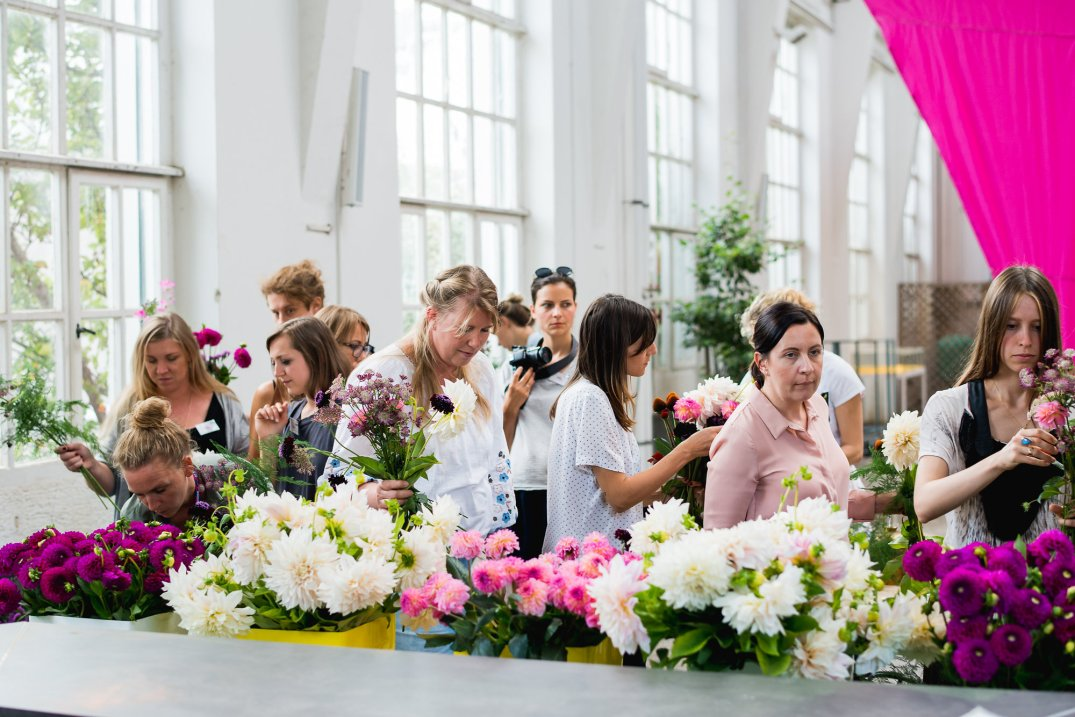 flower workshop Anastasia Benko at Botanical Garden Munich