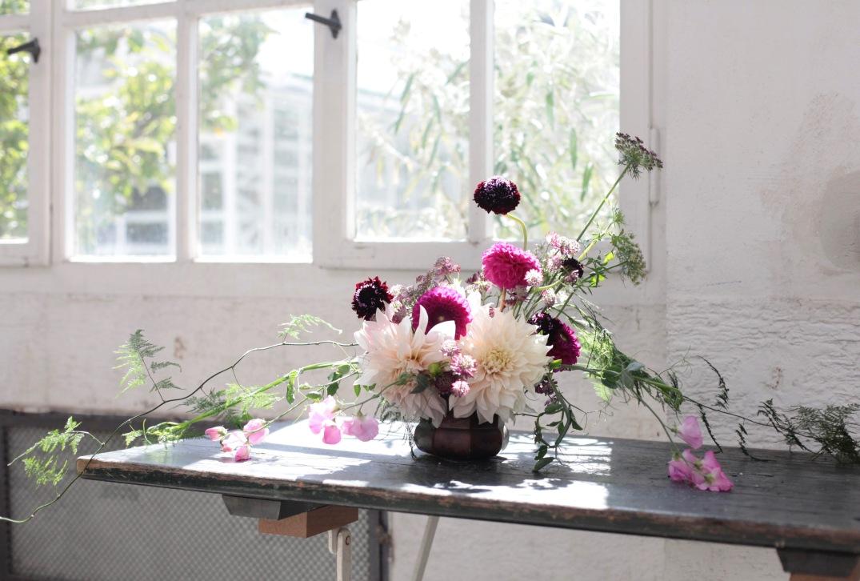 dahlia arrangement