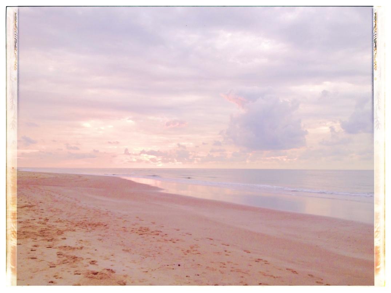 pink sunset at North Sea