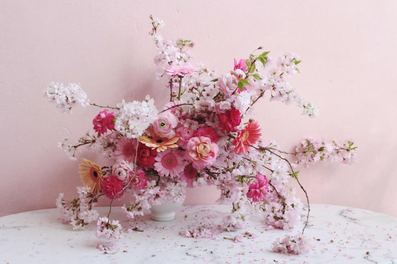 Cherry Blossom spring arrangement