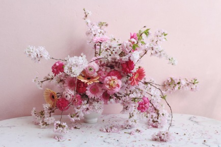 Cherry Blossom spring arrangement