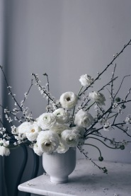 White blossom spring arrangement