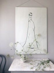 gray colors used for both, furniture and wall