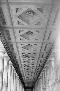roof detail from the museum island in Berlin, Museumsinsel Berlin, black & white photography