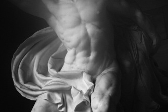 Detail from the Alte Nationalgalerie in Berlin. black & white photography