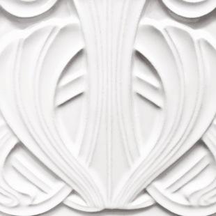 detail from Berlin: white Art Deco tile, weiße Jugendstil Fliese