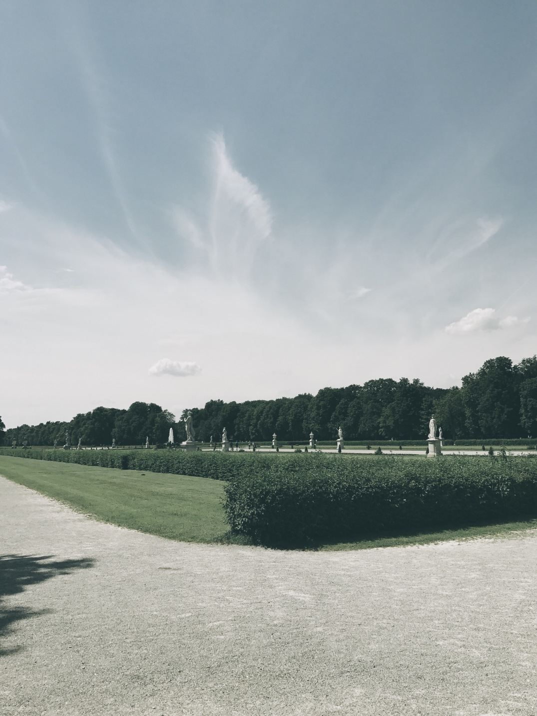 the garden area of Nymphenburg Palace, Munich, Germany
