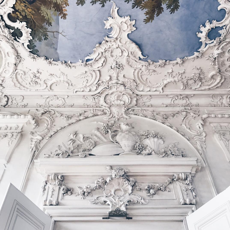 inside the Nymphenburg Palace, Munich, Germany