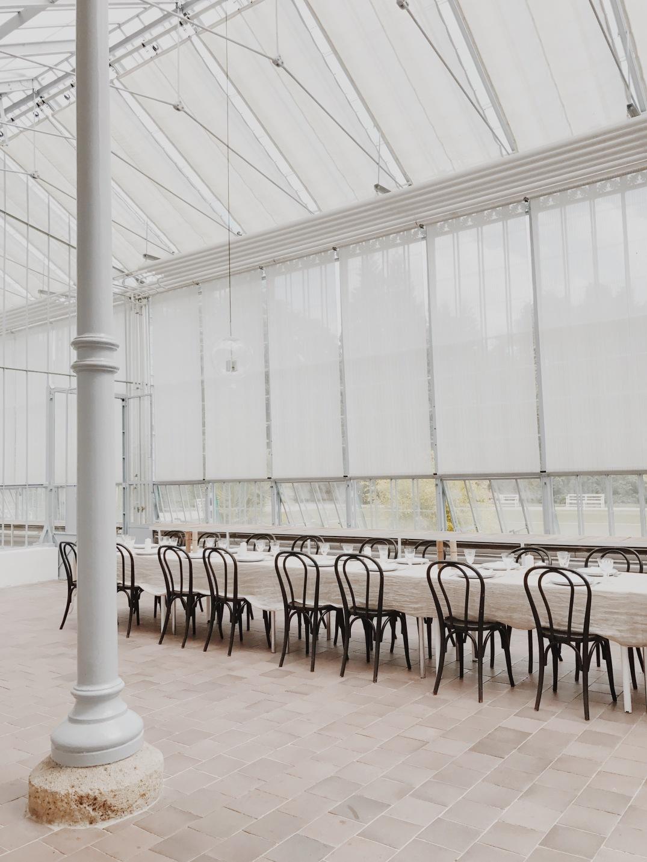 Iron House, a glass house at Nymphenburg Palace, Munich, Germany
